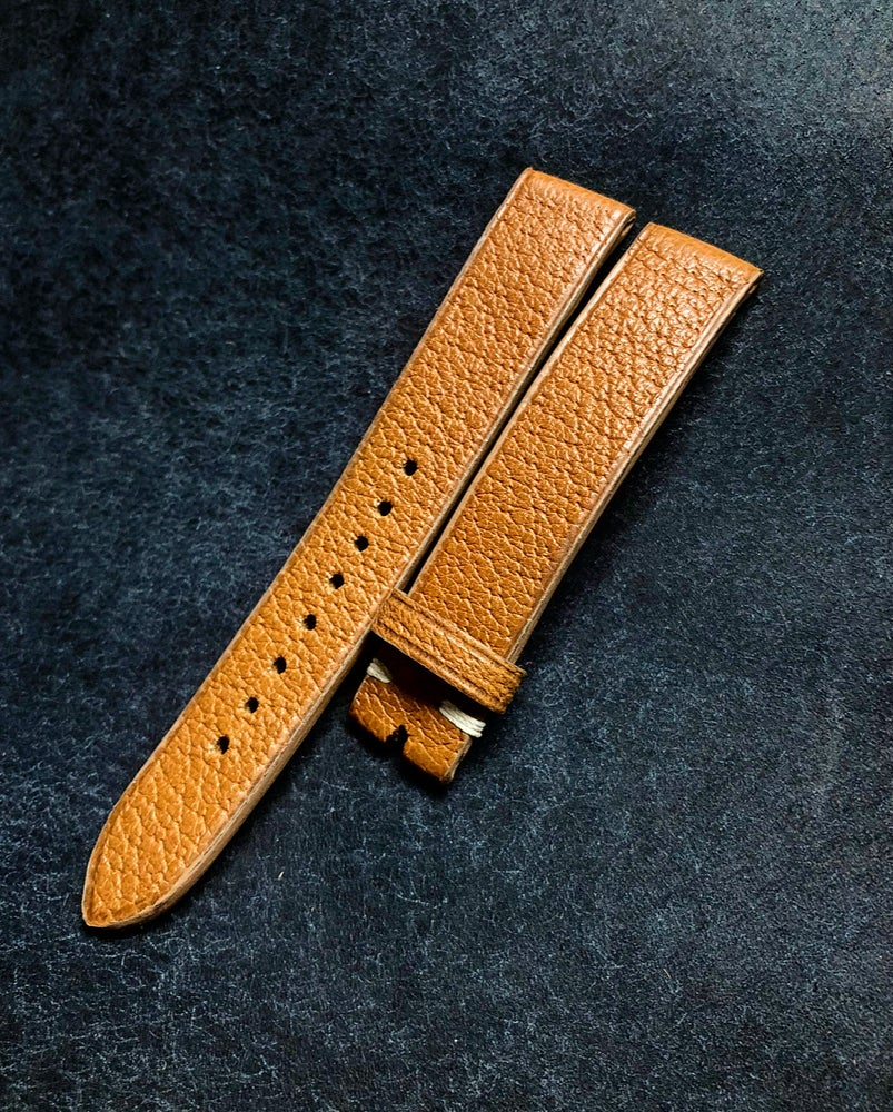 Image of Pigskin classic tan watch strap