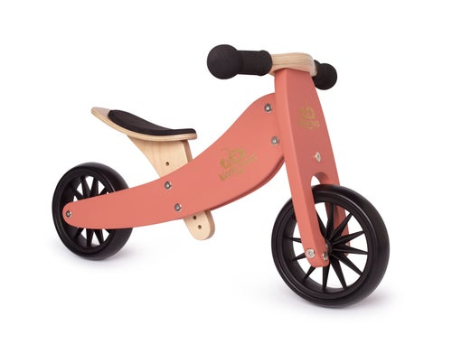 Image of 2-in-1 Tiny Tot Tricycle & Balance Bike Coral. New color!