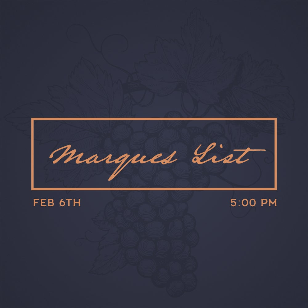 Image of Marques List Launch Tasting