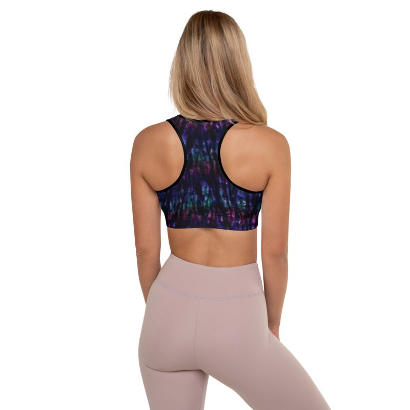 Image of Watercolor Drips Sports Bra