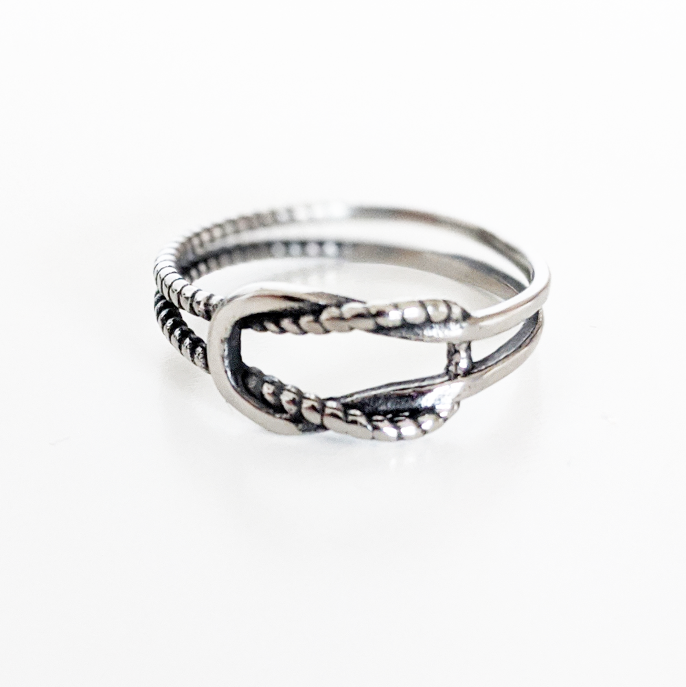 Image of Square Knot Ring
