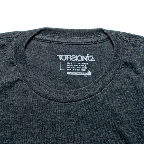 Image of Logo Tee - Charcoal/red