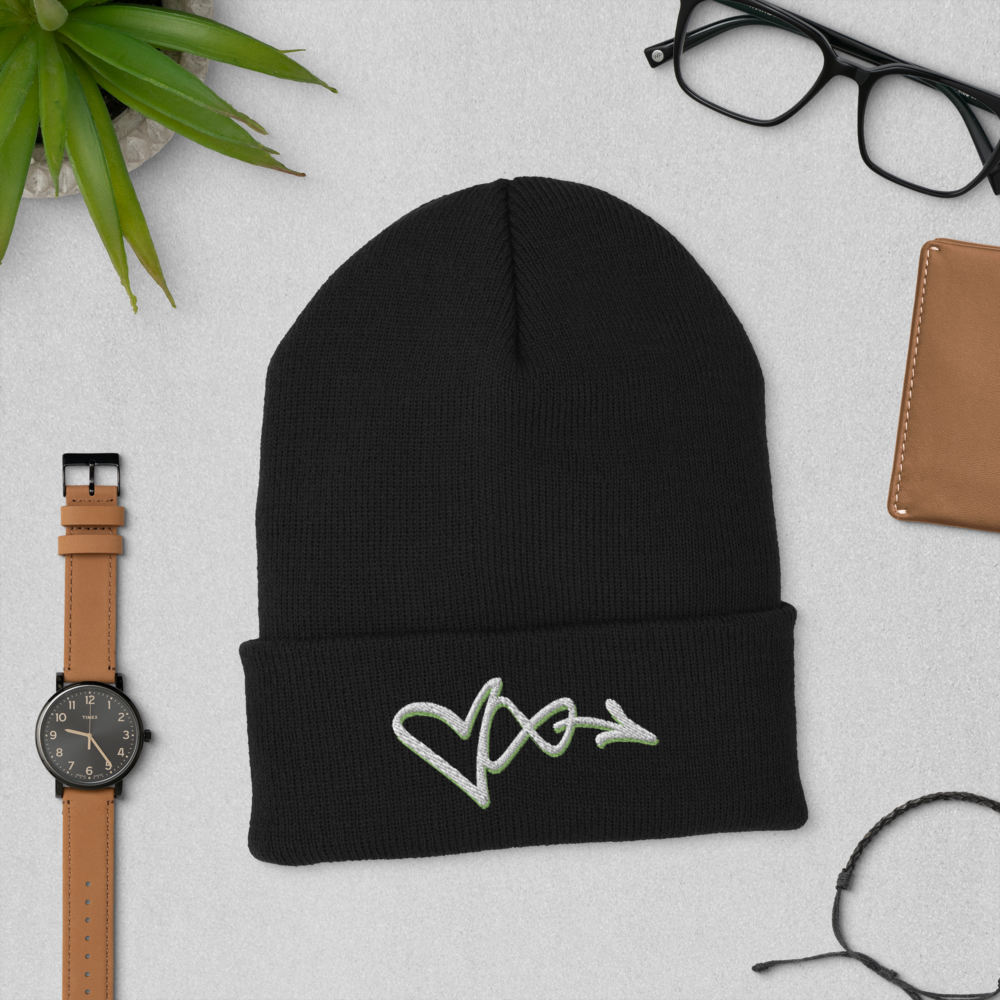Image of LOVE INFINITE BLACK BEANIE