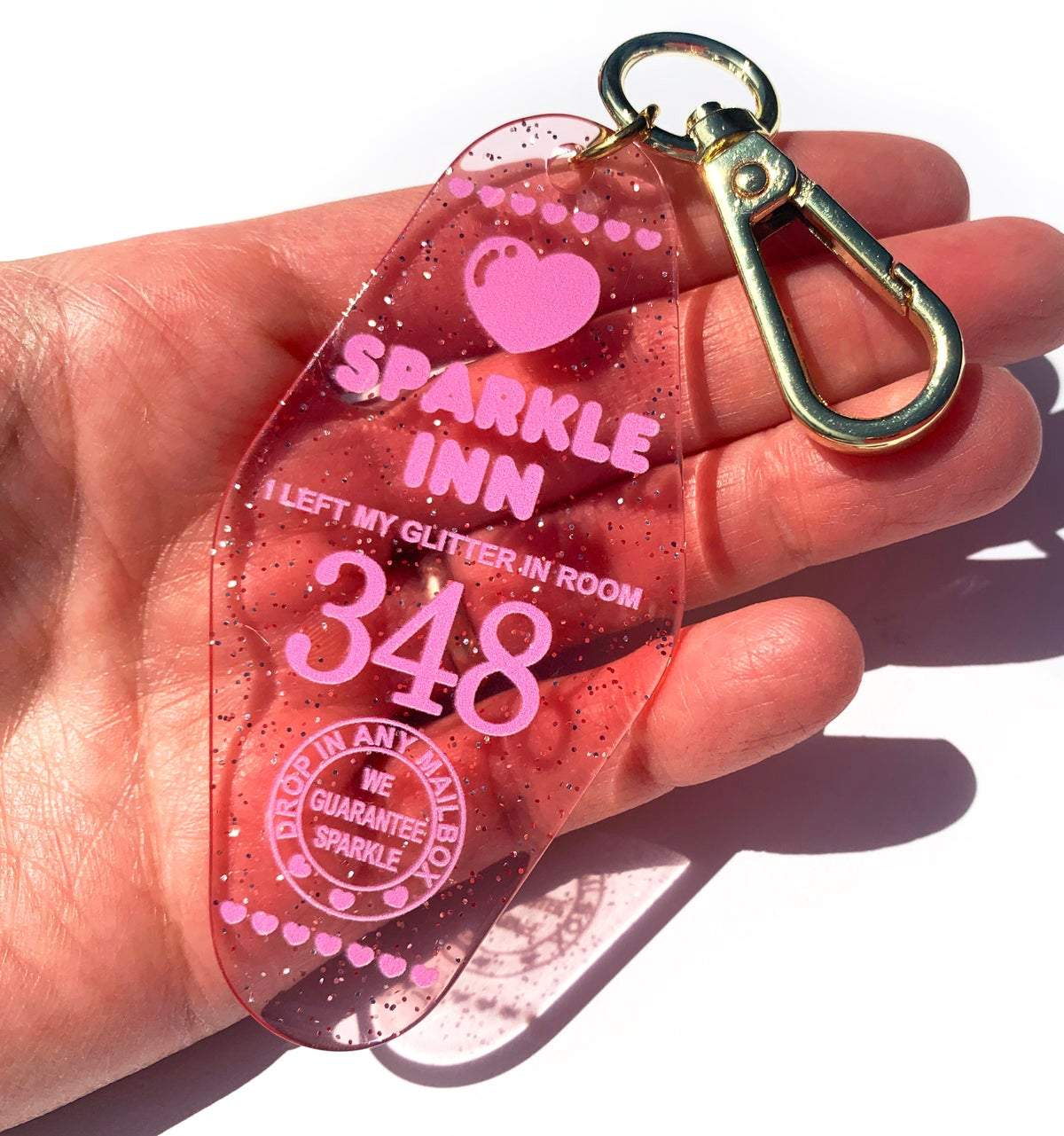 Image of Sparkle Inn Motel Bag Charm Keychain