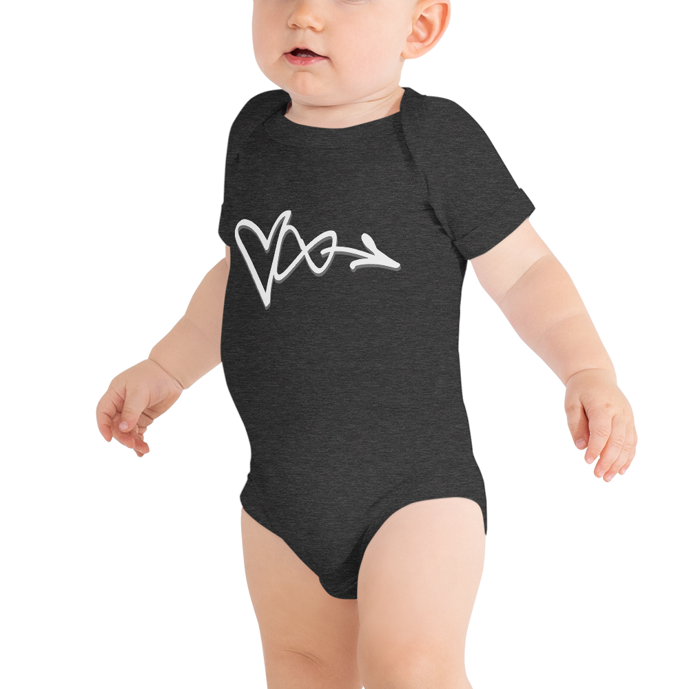Image of LOVE INFINITE DARK HEATHER GREY ONESIE