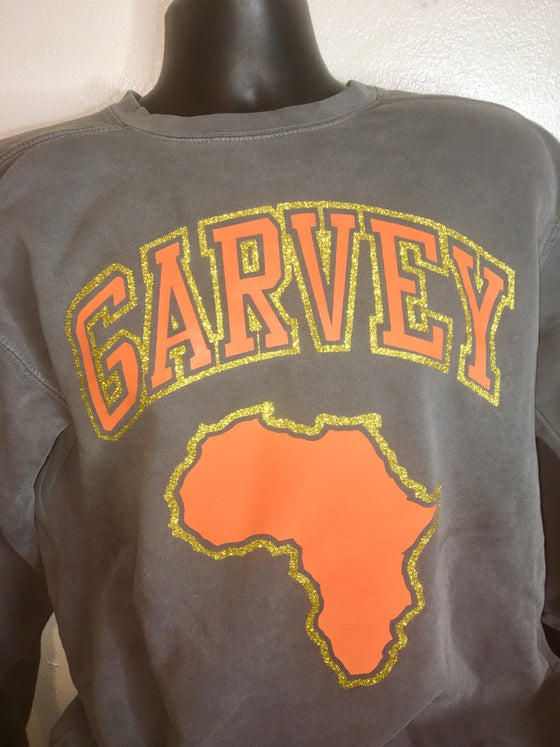 Image of GARVEY VINTAGE GOLD GLITTER SWEATSHIRT