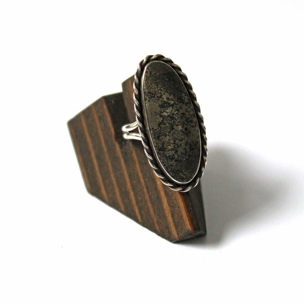 Pyrite Sterling Silver Ring - Size 9.5