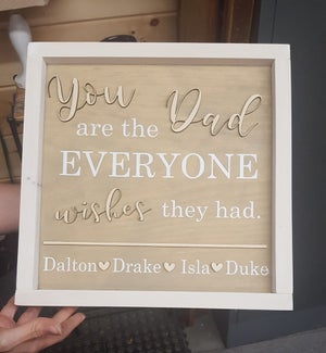 Image of 12x12 Framed Parent/Grandparent 3D Sign
