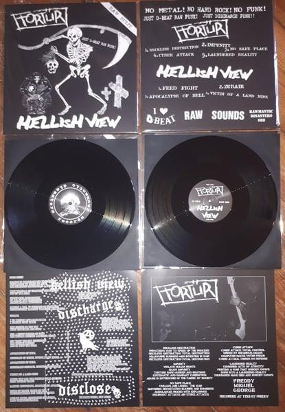 "Image of   Tortür / Hellish View ""Raw Split"" (12"" Split) (2019)"