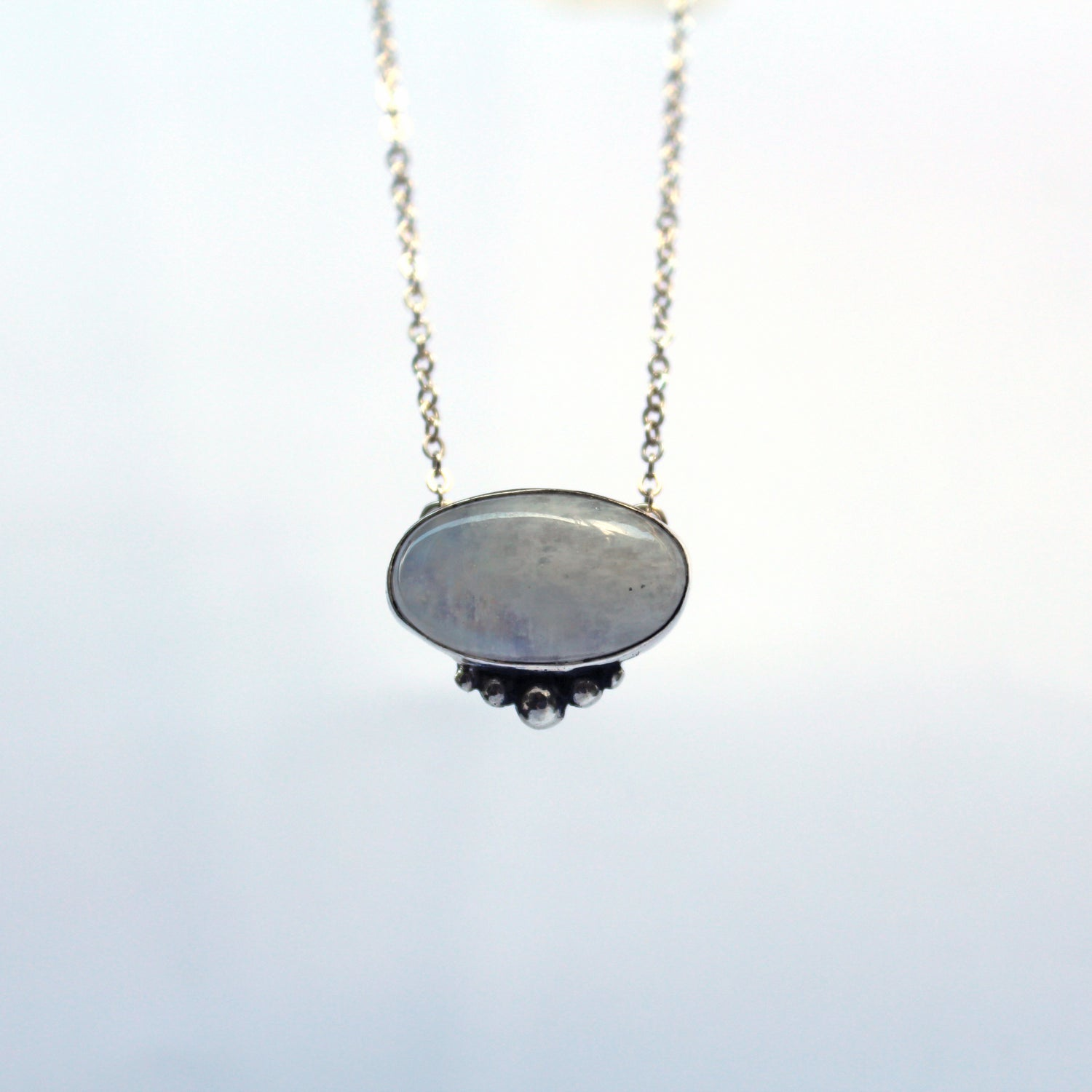 Image of Moonstone Sterling Silver Necklace
