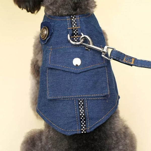 Image of Dark Denim Pet Harness
