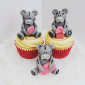Image of Valentines Teddy Cupcake