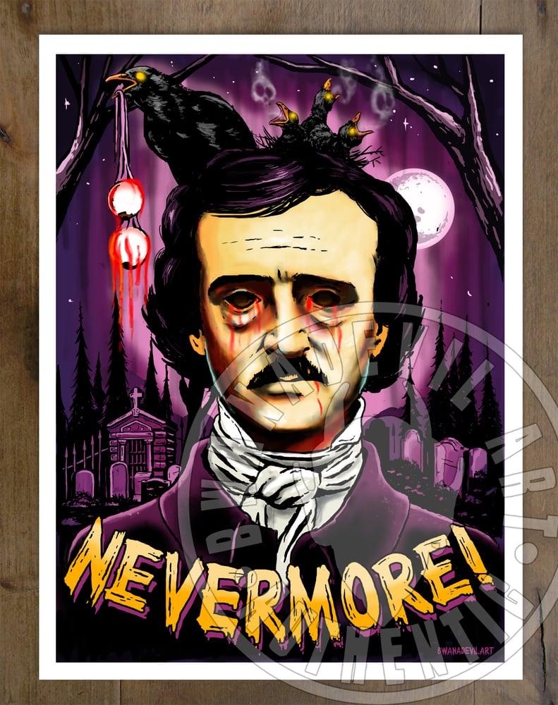 Image of Edgar Allan Poe Nevermore Print