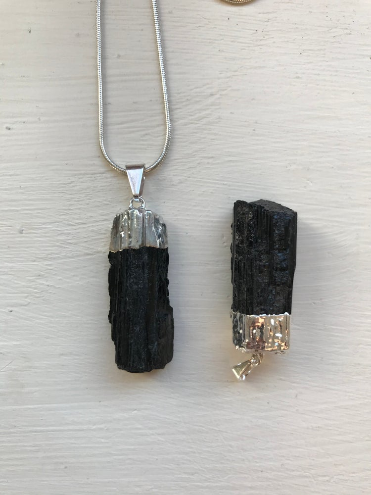 Image of Black Tourmaline Pendant