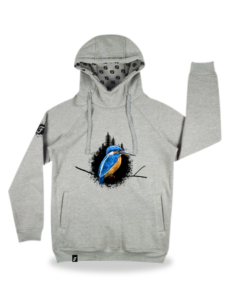 "Image of Hoody ""the king"", grey - ultrawarm and comfortable! SLIMFIT!"