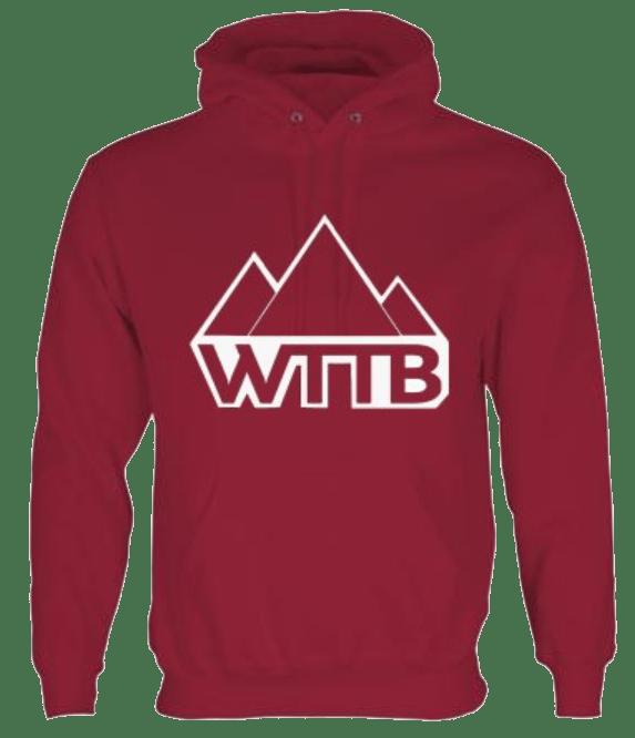 Image of WTTB Burgandy Red Logo Hoodie