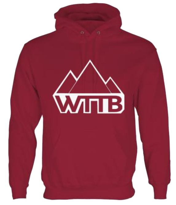 Image of WTTB Burgandy Red Logo Hoodie