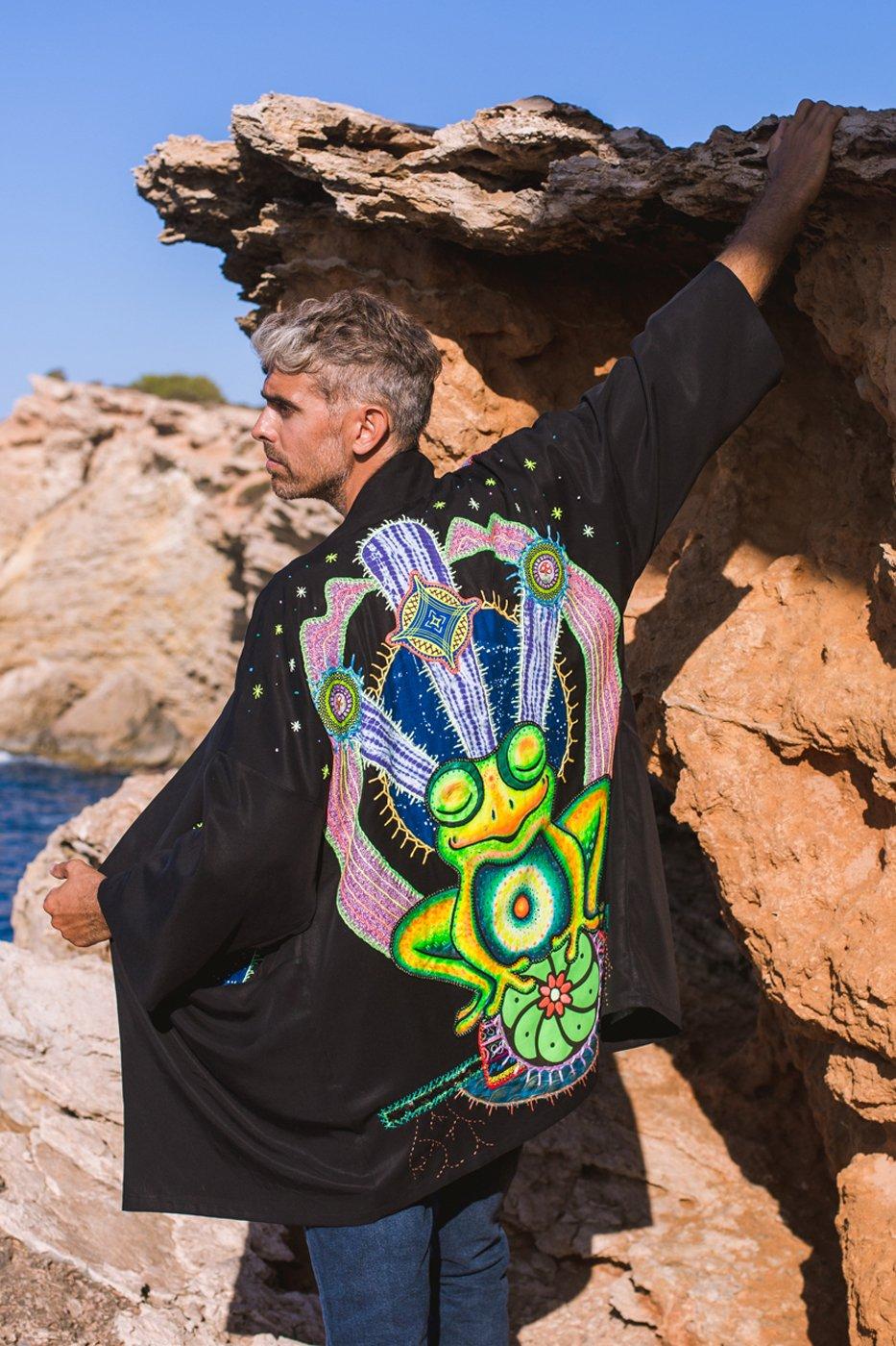 Image of Psychedelic Frog Kimono