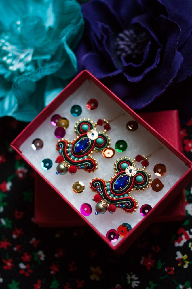 Image of Miracle Earrings - Velvet Miracle