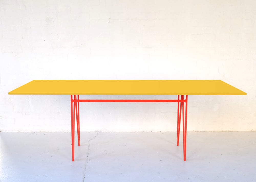 Image of Colour Play Dining Table in Yellow
