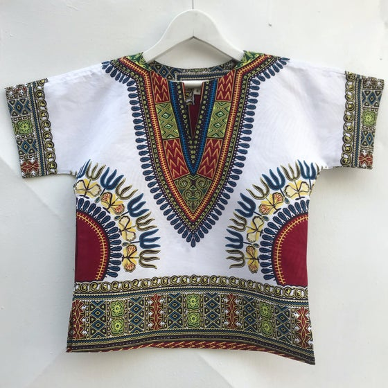 Image of Dashiki tunic, white