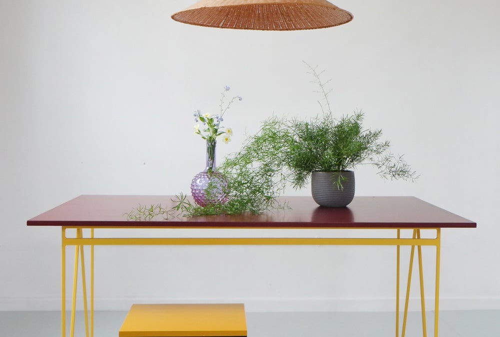 Image of Colour Play Dining Table in Beetroot