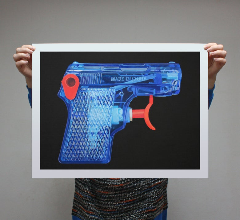 Image of 'Blue Pistol' - Limited Edition Print - 59cm x 43.5cm