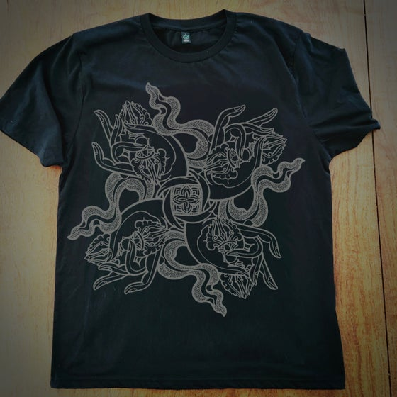 Image of '4 Dorje Hands' short sleeve Black