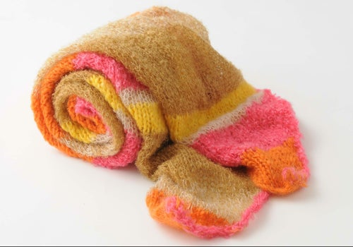 Image of Crafty Large Stripe Mohair Scarf