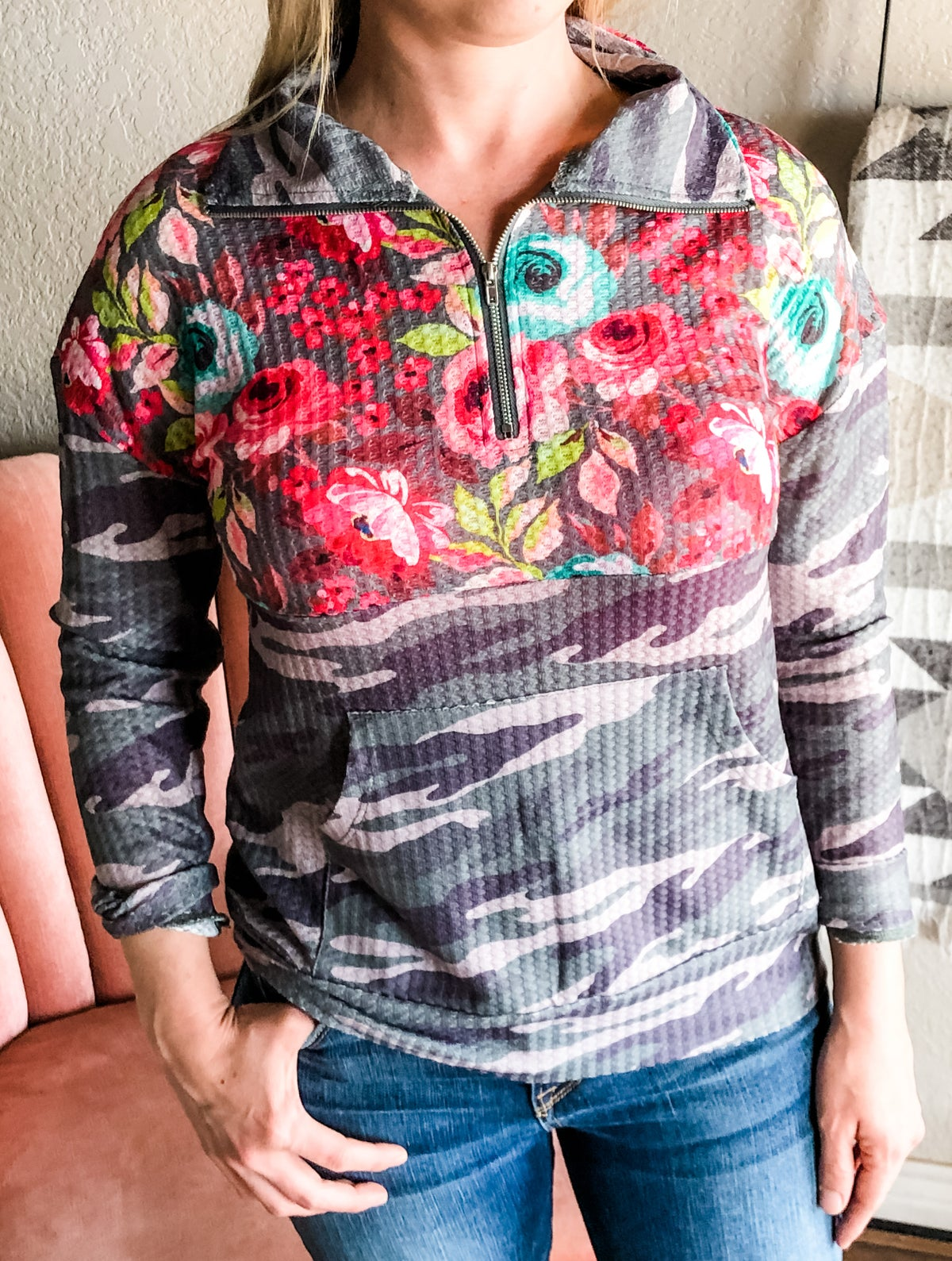 Image of Floral/Camo Pullover