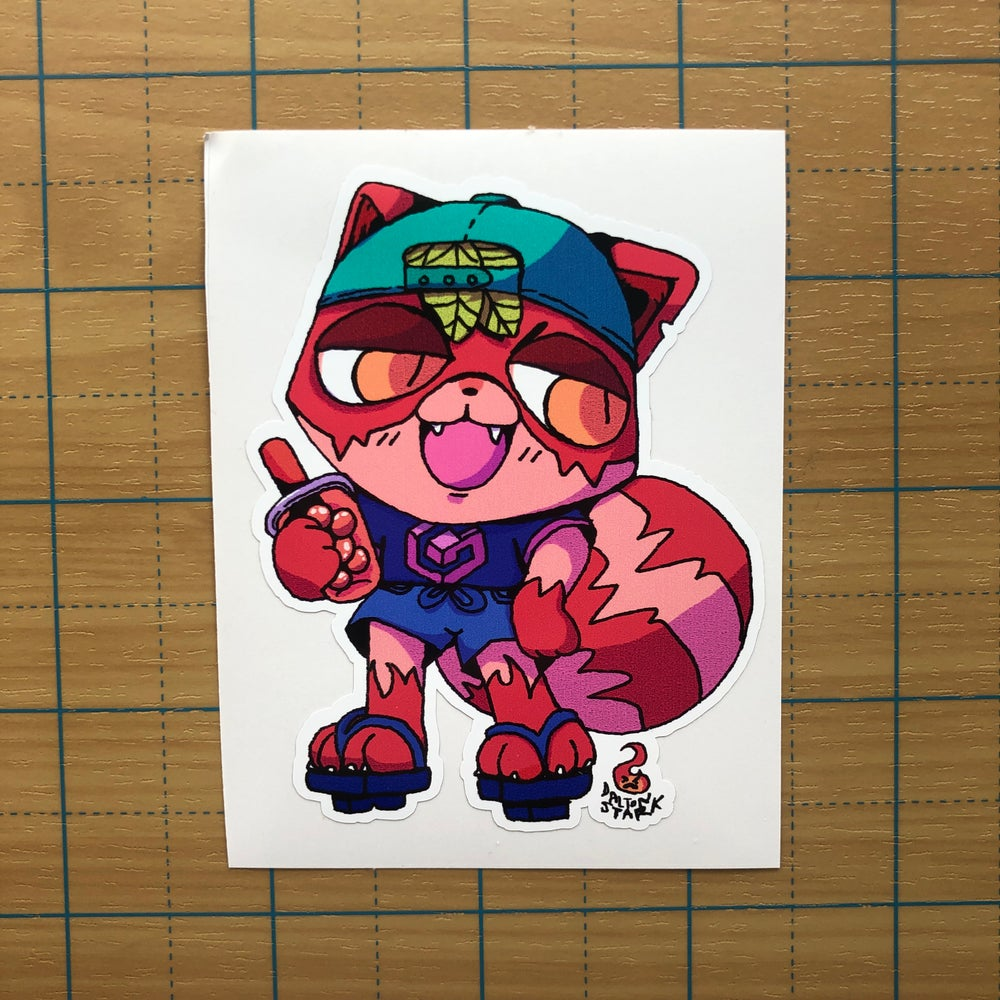 Image of Tanuki Kid Sticker