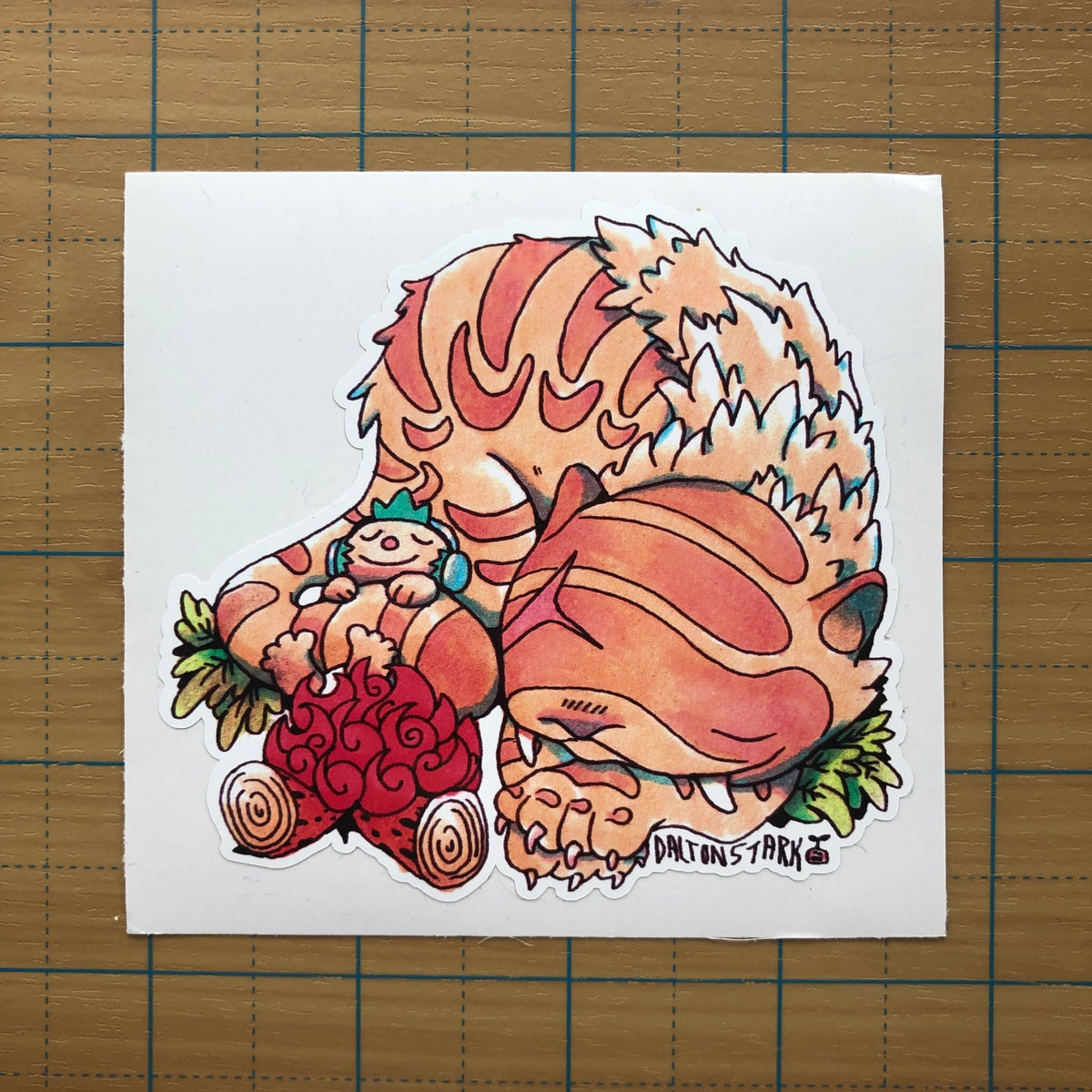 Image of Saber Tooth Buddy Sticker