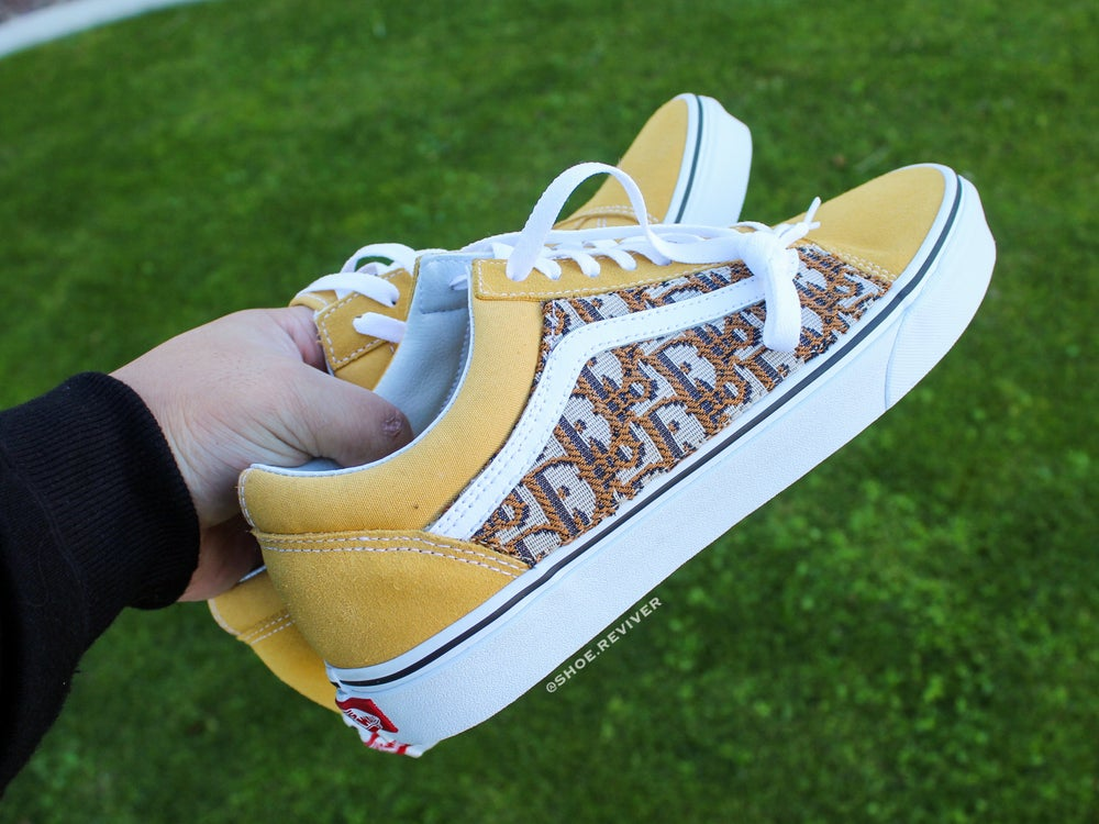 """Image of """"Yellow Dior"""" Old Skool Lows"""
