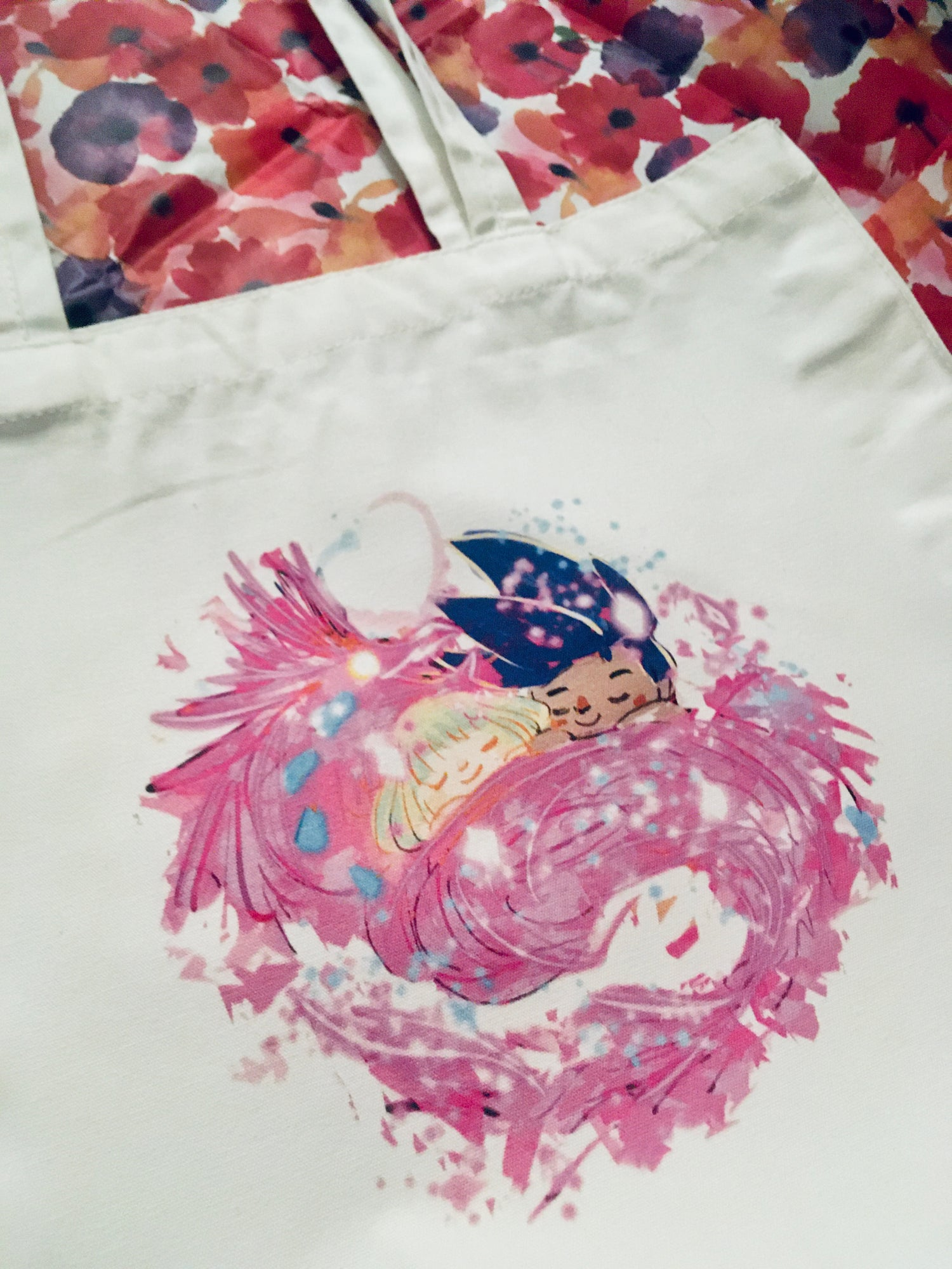 Image of  connected souls - promare tote bag-