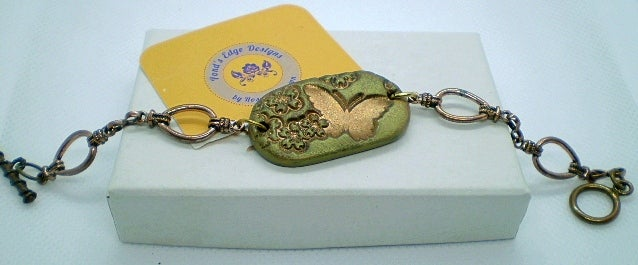 Bronze Butterfly Bracelet