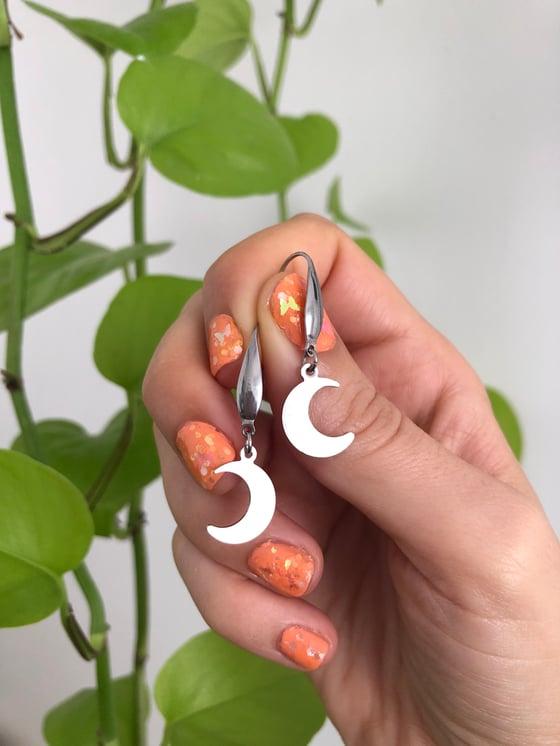 Image of SMALL MOON EARRINGS