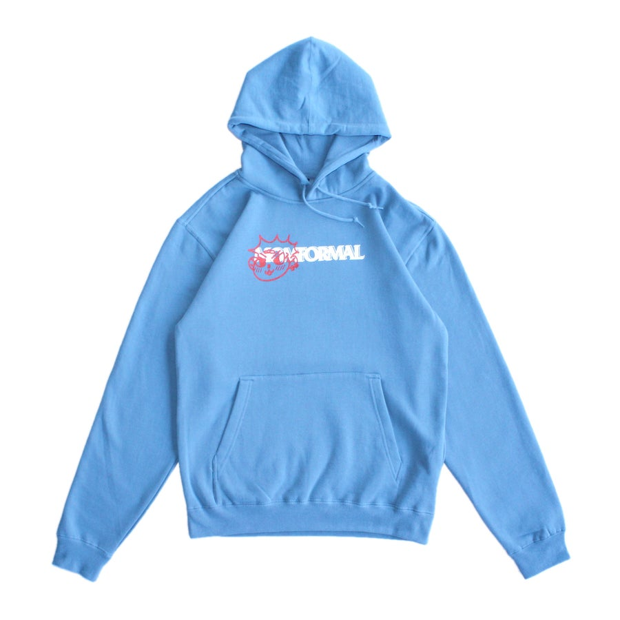 Image of PUNK DOG LOGO HOODIE (BLUE)
