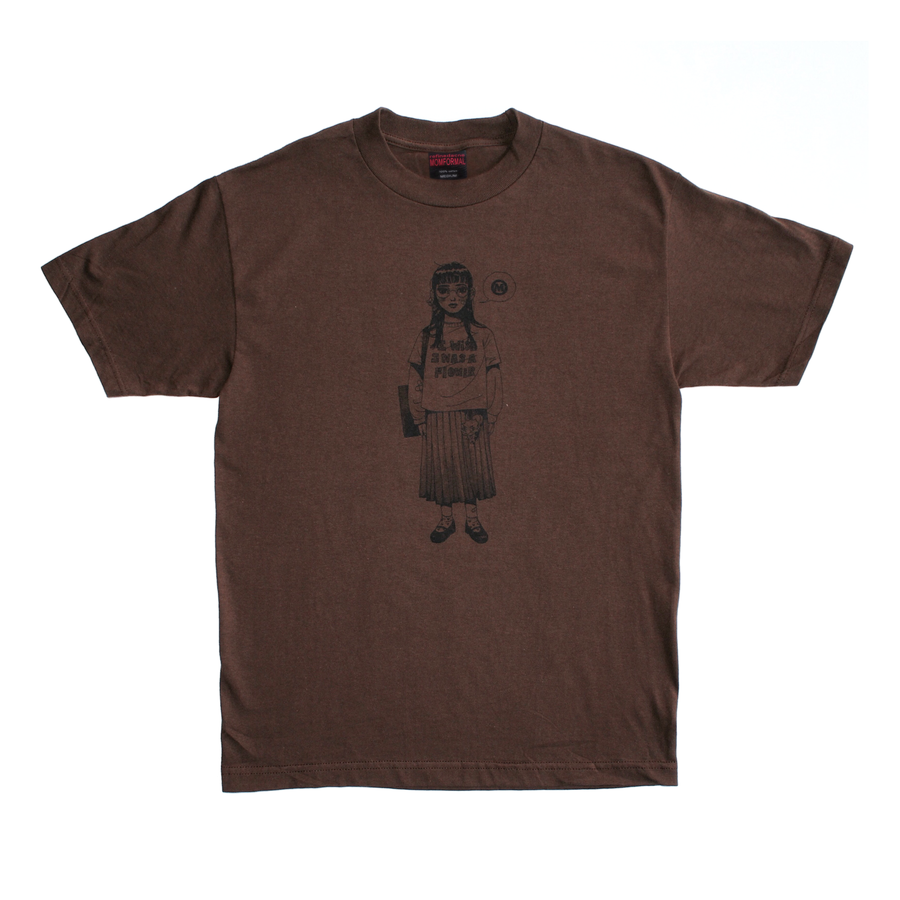 Image of FLOWER TEE (BROWN)