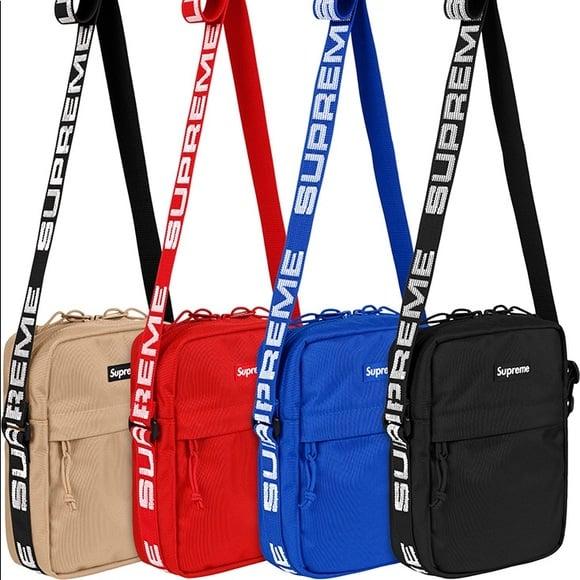 Image of Supreme SS 18 Black, Red, Blue, or Beige Cordura Shoulder Bag