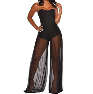 "Image of ""Oceanside"" Sheer Vaca Jumpsuit"