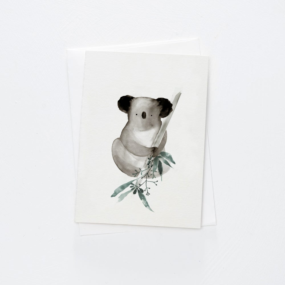Image of Gum Leaf Koala card