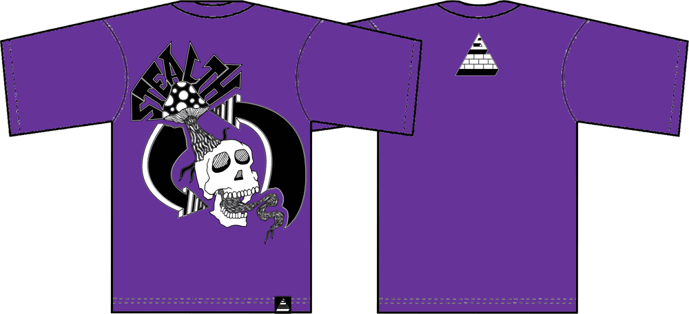 Image of Creative Cycle Tee Royal Purple