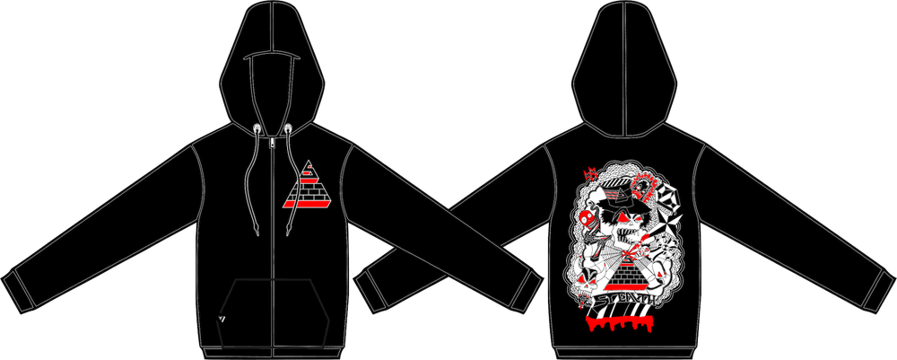 Image of Blood Sweat Smoke Hoodie Black