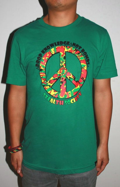 Image of Drop Knowledge Tee Kush Green