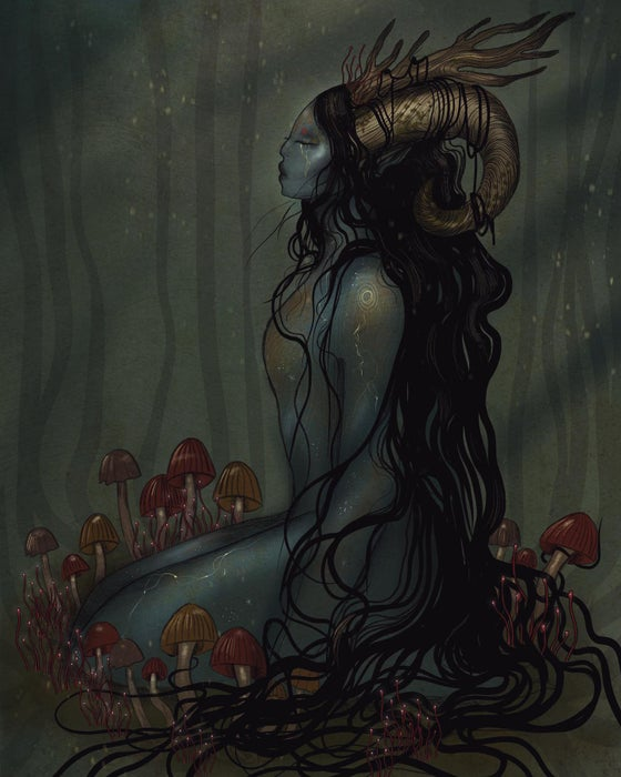 Image of Sleeping faun A4 print