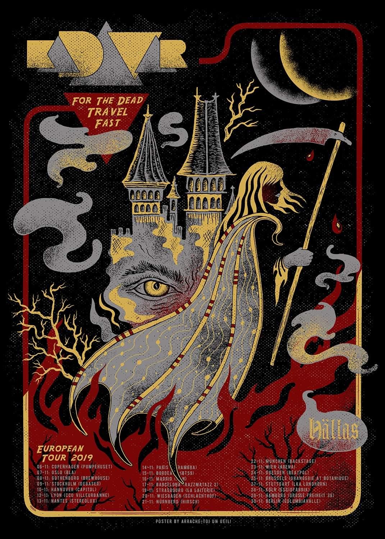 KADAVAR (tour poster 2019 )