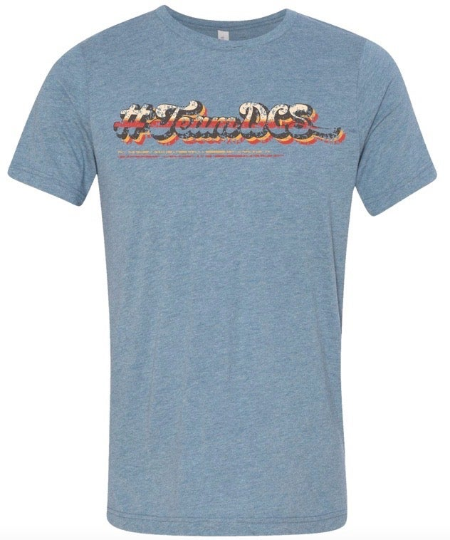 Image of #TeamDCS Vintage Shirt - Short Sleeve Triblend Bella Canvas