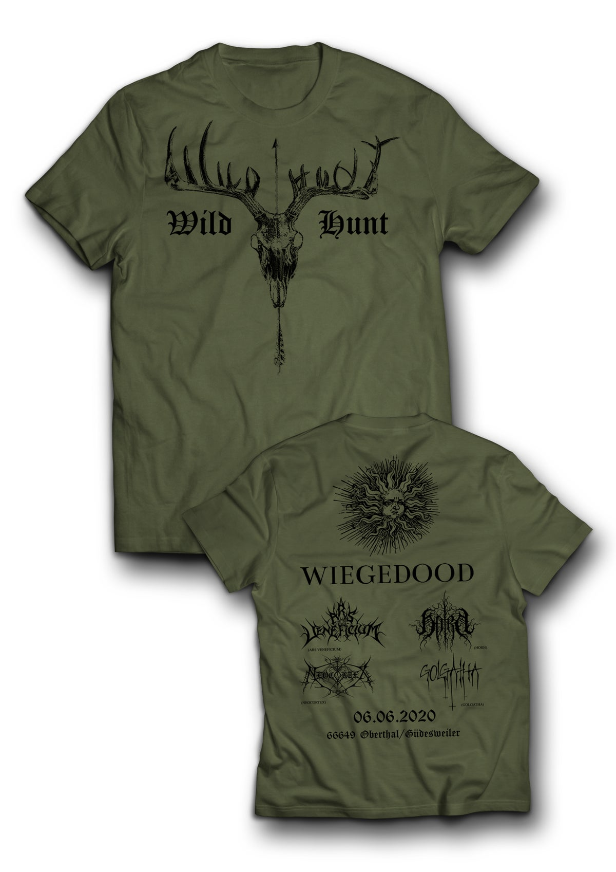 Image of T-Shirt - Olivgrün - Wild Hunt Open Air MMXX