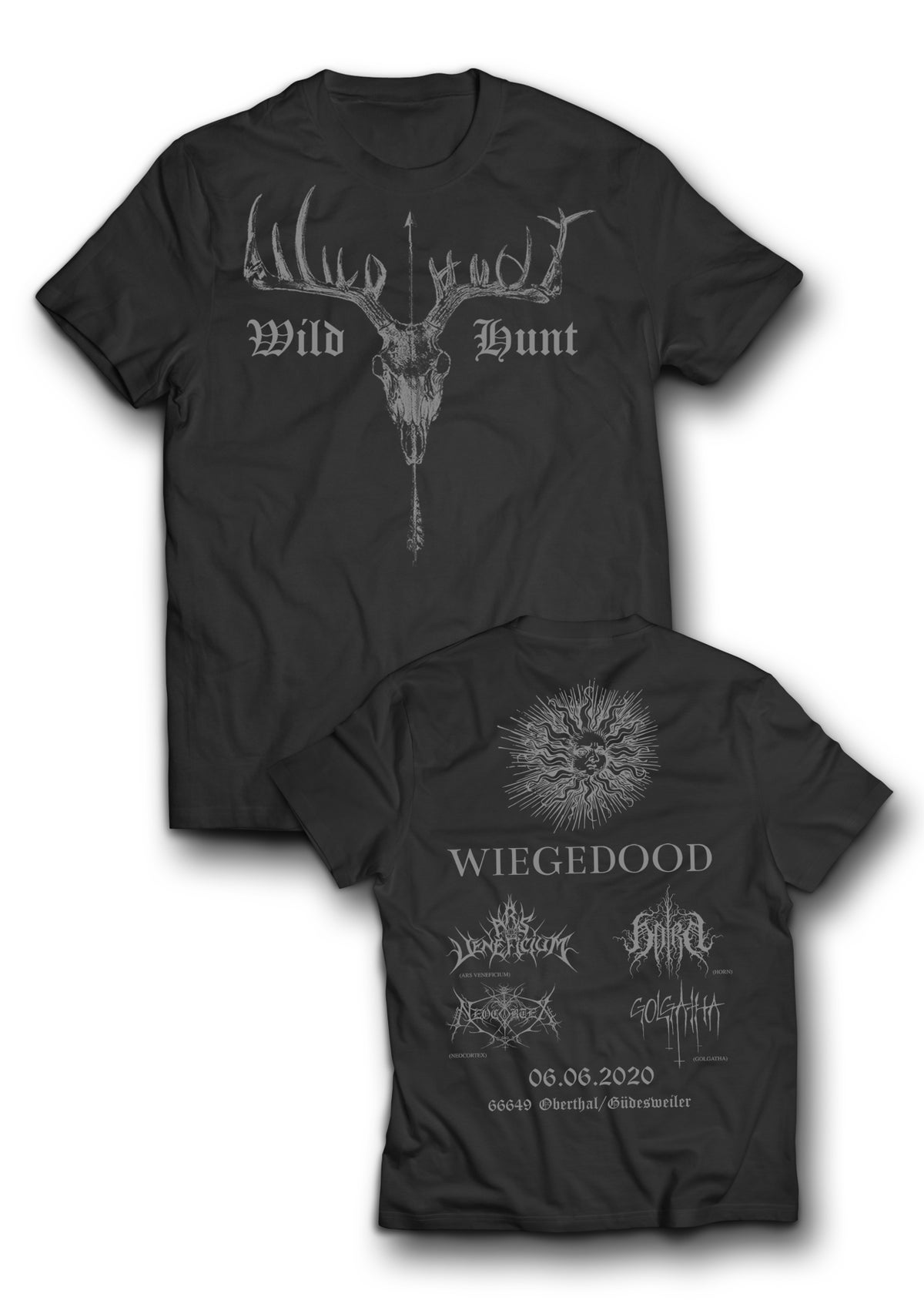 Image of T-Shirt - Schwarz - Wild Hunt Open Air MMXX