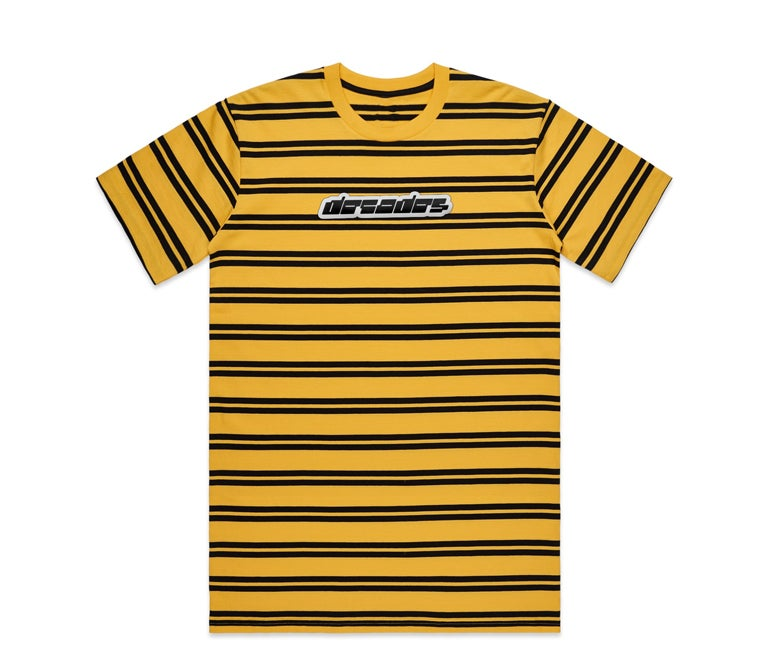 Image of Synth Striped Tee Yellow/Black